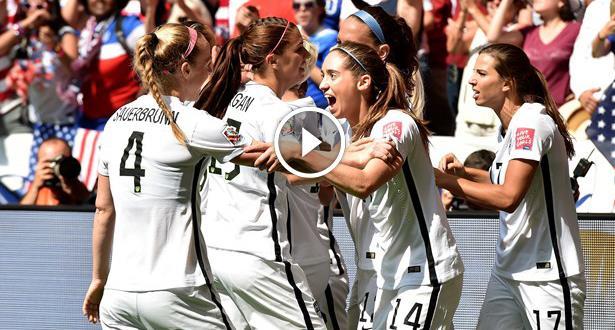 فيديو .. المنتخب الامريكي يسحق اليابان بخماسية ويتوج بكأس العالم للسيدات