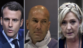 زيدان يدعو الى عدم التصويت على مارين لوبن في الدور الثاني من انتخابات الرئاسة الفرنسية