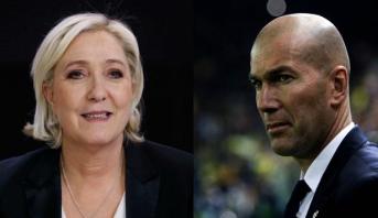 """زيدان يدعو الفرنسيين الى """"تجنب"""" التصويت لمارين لوبن والأخيرة ترد"""