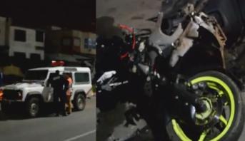 حادثة سير مميتة بين دراجة نارية وسيارة للشرطة بالمحمدية