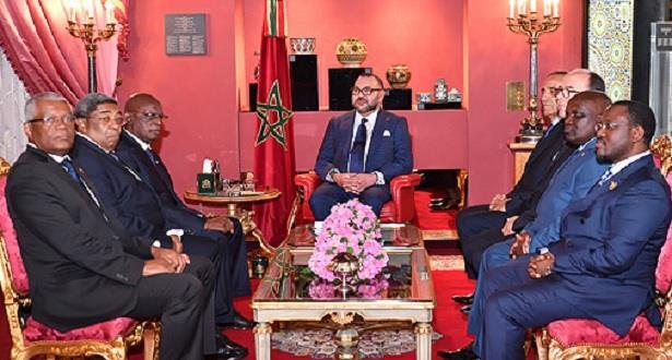 Le Roi reçoit à Fès une délégation des présidents de la XXVème Assemblée régionale Afrique de l'Assemblée Parlementaire de la Francophonie