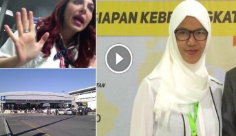 فيديو .. موظفة بمطار روما تمنع فتاة مسلمة بسبب حجابها