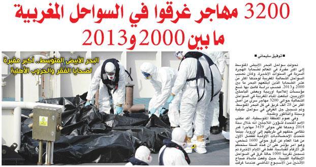 وزارة الداخلية تنفي غرق 3200 مهاجرا في ...
