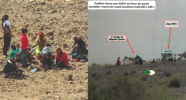 بالصور .. السلطات الجزائرية تطرد لاجئين سوريين نحو الحدود المغربية