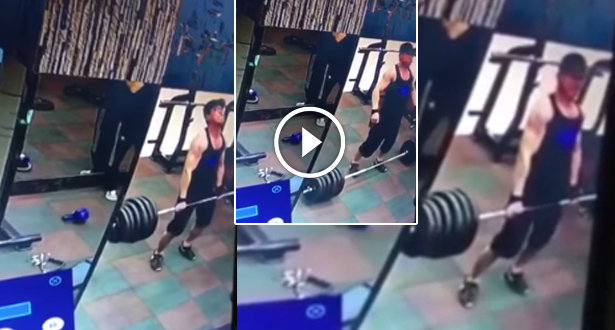 فيديو .. لاعب رفع أثقال يتعرض لحادث مميت !