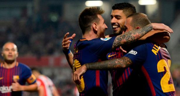 """برشلونة يهزم خيرونا ويحافظ على صدارة """"الليغا"""""""