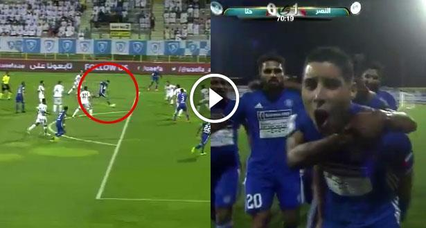 فيديو.. عبد العزيز برادة يسجل ببراعة ويقود فريقه لنهائي كأس الإمارات