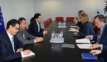 Bourita s'entretient à Bruxelles avec Federica Mogherini