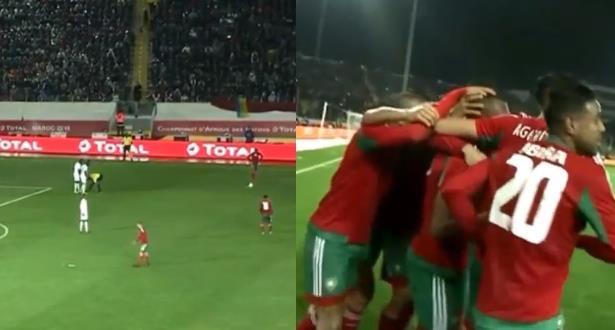 """المغرب - موريتانيا .. ثلاثية لـ """"الأسود"""" في 15 دقيقة"""