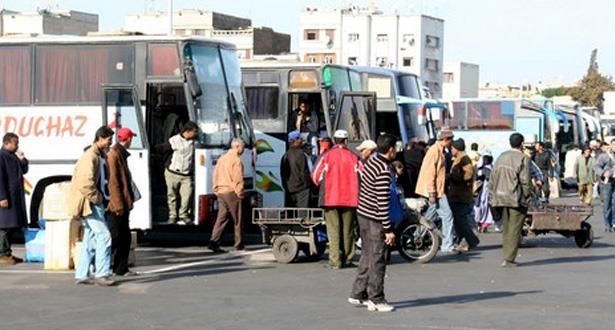 تدابير استثنائية لتخفيف الضغط على حافلات المسافرين بمناسبة عيد الأضحى بالبيضاء