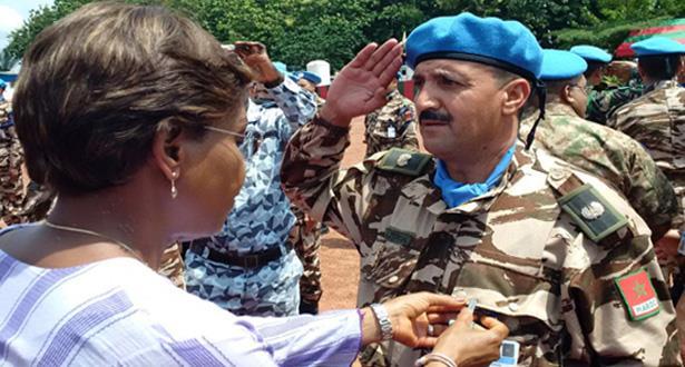 L'ONUCI rend un vibrant hommage aux casques bleus marocains déployés en Côte d'Ivoire