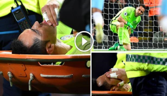 فيديو .. ضربة لمانشستر سيتي بعد إصابة حارسه برافو