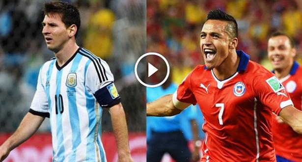 """فيديو .. الشيلي يحرم ميسي والأرجنتين من لقب """"كوبا أمريكا"""""""