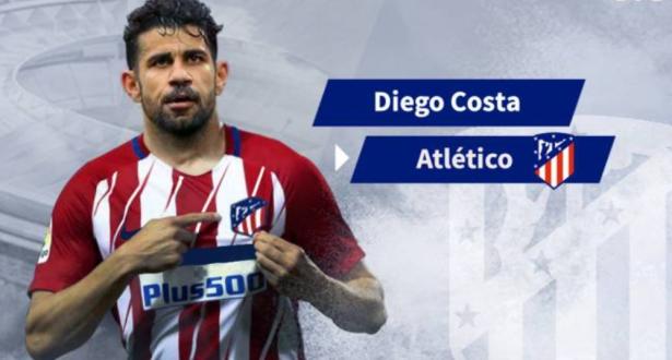 أتلتيكو مدريد يتوصل إلى اتفاق مع تشيلسي لضم كوستا