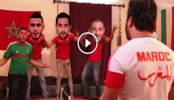 """فيديو .. شباب يهدون أغنية طريفة للمنتخب المغربي بمناسبة """"الكان 2017"""""""