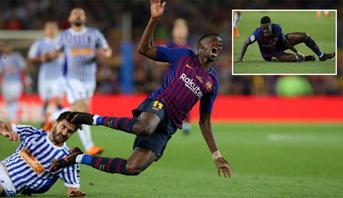 رسميا .. برشلونة يكشف مدى خطورة إصابة ديمبلي