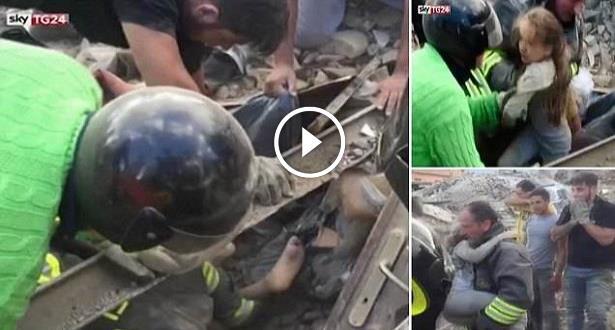 Séisme en Italie: une petite fille secourue après 17h sous les décombres