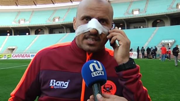 اعتداء على مدرب نهضة بركان في ملعب رادس بتونس