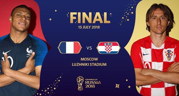 France-Croatie: la composition des deux équipes