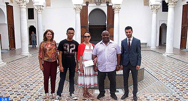 الرئيس الغابوني علي بونغو وأسرته يكتشفون السينوغرافيا الجديدة لمتحف القصبة بطنجة