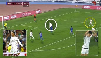 فيديو .. المغربي حمزة الصنهاجي يسجل هدفا من تمريرة تشافي ويحتفل على طريقة رونالدو