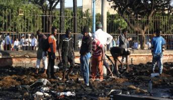 اندلاع حريق مهول قرب محطة اولاد زيان بالدار البيضاء