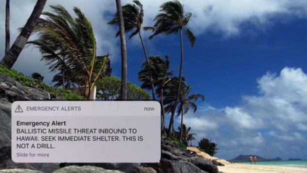 هاواي..هلع وفوضى بعد انذار خاطىء حول قرب سقوط صاروخ بالستي