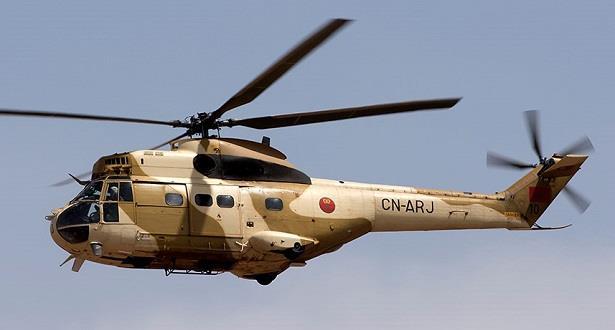 نقل سيدة في حالة مخاض بواسطة مروحية تابعة للقوات المسلحة الملكية إلى المركز الاستشفائي بورزازات
