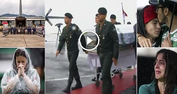 Brésil: Stade comble et pluie battante pour honorer l'équipe de foot décimée (vidéo)