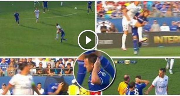 Vidéo: contact musclé entre Ibrahimovic et John Terry!