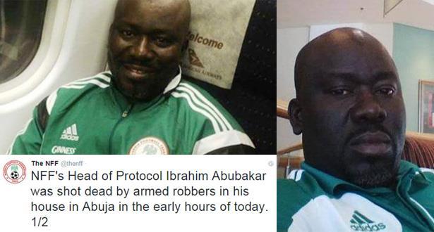 مقتل إبراهيم أبو بكر رئيس الاتحاد النيجيري لكرة القدم!