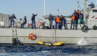 البحرية الليبية تنقذ 40 مهاجرا غير شرعي قبالة سواحل البلاد