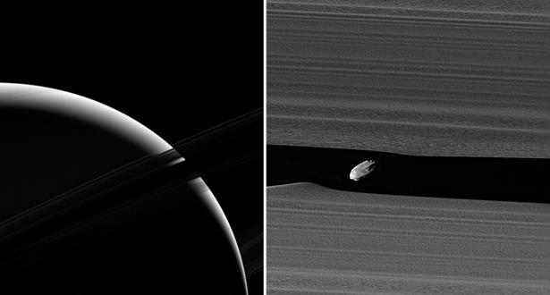"""""""ناسا"""" تستقبل أقرب صور على الإطلاق من داخل حلقات كوكب زحل"""