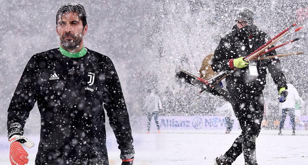 """""""الكالتشيو"""" .. الثلوج تؤجل مواجهة اليوفي وأتالانتا"""