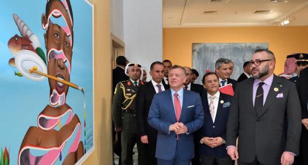 """الملك محمد السادس والعاهل الأردني يدشنان التظاهرة الثقافية والفنية """"إشعاع إفريقيا من العاصمة"""""""