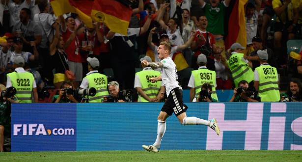 كروس بهدف قاتل ينشع آمال ألمانيا في التأهل