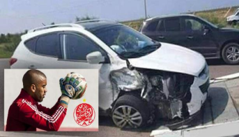 حارس مرمى الوداد يتعرض لحادثة سير بالطريق السيار