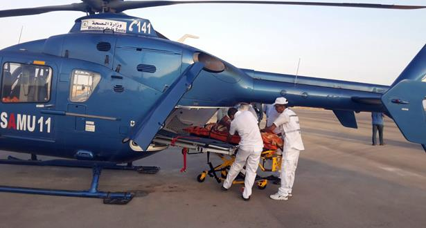 نقل سيدة في حالة صحية حرجة من مدينة الريش إلى مراكش بواسطة مروحية طبية