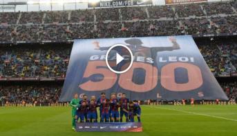 Vidéo: Le Camp Nou honore Messi après son 500e but