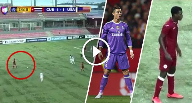 فيديو طريف.. لاعب يفشل في تسديد ضربة حرة على طريقة رونالدو
