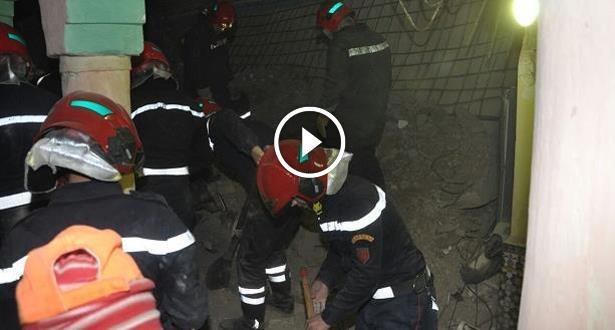 فيديو.. قتلى وجرحى في حادث انهيار منزل بمراكش