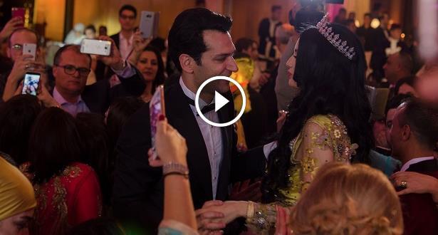 """فيديو وصور.. الباني ويلدريم يحتفلان بزفافهما في """"عرس أسطوري"""" بالمغرب"""