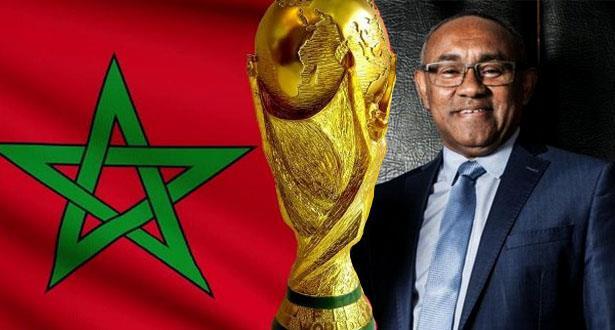 """رئيس """"الكاف"""" يدعو إلى دعم """"قوي وصريح"""" لترشيح المغرب لمونديال 2026"""