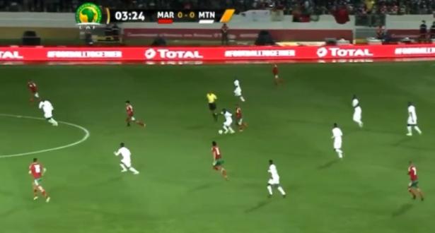 """نهاية الشوط الأول من مباراة المغرب وموريتانيا الافتتاحية لـ """"الشان"""""""