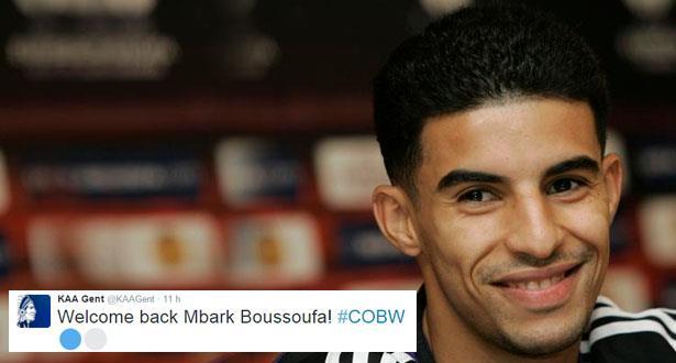 Belgique: Mbark Boussoufa prêté à la Gantoise