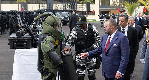 Le Roi Mohammed VI visite la Direction Générale de la Surveillance du Territoire national (DGST) et inaugure son Institut de formation spécialisée