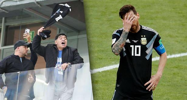 مارادونا يشتعل غضبا ضد سامباولي ويلتمس العذر لميسي
