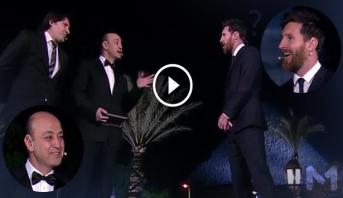 """فيديو .. عمرو أديب يوجه أسئلة """"طريفة"""" لميسي في زيارته لمصر"""