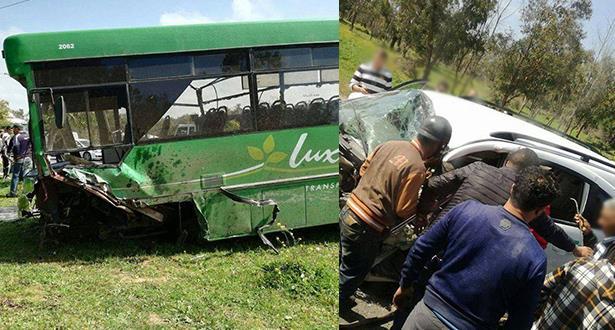 حادث سير خطير بين بوزنيقة والمحمدية يودي بحياة شخص وإصابة 22 آخرين