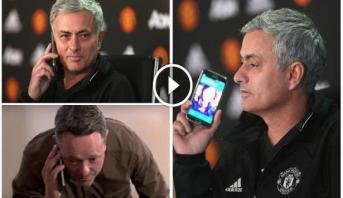 فيديو طريف.. مورينيو يقطع مداخلته ويجيب على هاتف أحد الصحفيين